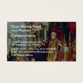 The Miracles Of St. Ignatius Of Loyola By Rubens Business Card