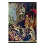 The Miracles Of St. Ignatius Of Loyola By Rubens Poster