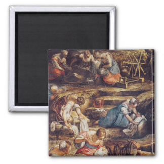 The Miraculous Fall of Manna 2 Inch Square Magnet