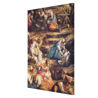 The Miraculous Fall of Manna Canvas Print