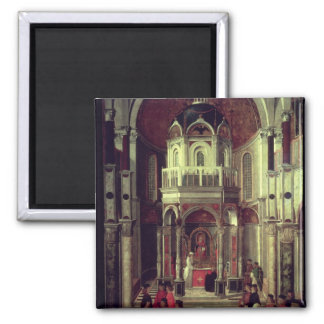 The Miraculous Healing of Pietro de' Ludovici, 150 2 Inch Square Magnet