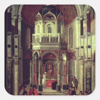 The Miraculous Healing of Pietro de' Ludovici, 150 Square Sticker