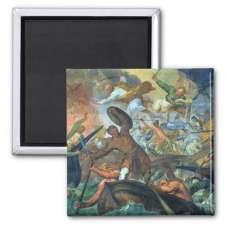 The Miraculous Intervention of SS Peter and Paul i 2 Inch Square Magnet