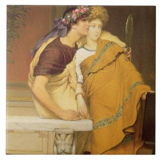 The Mirror, 1868 (oil on panel) Ceramic Tiles