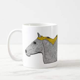 the mirror horse. coffee mug
