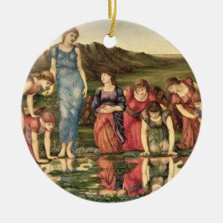 The Mirror of Venus, 1870-76 (oil on canvas) Ceramic Ornament