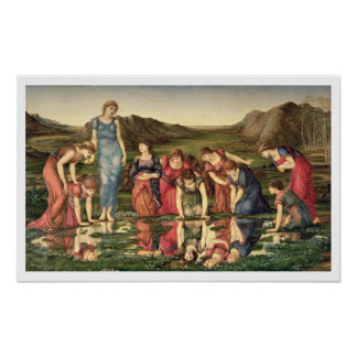 The Mirror of Venus, 1870-76 (oil on canvas) Poster