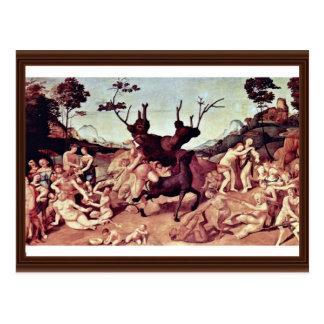 The Misfortune Of Silenos By Piero Di Cosimo Postcard