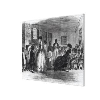 The Misses Cooke's schoolroom Canvas Print