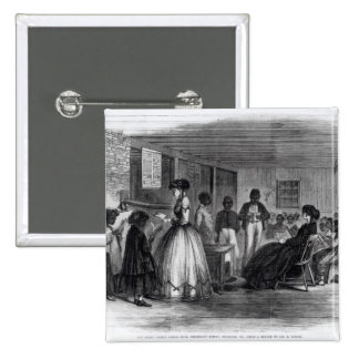 The Misses Cooke's schoolroom Pinback Button