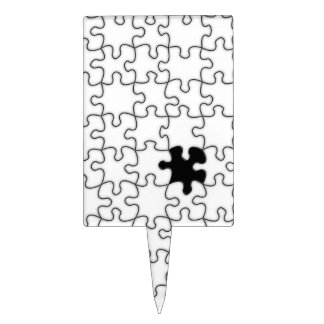 The Missing Puzzle Piece Background Template Cake Topper