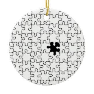 The Missing Puzzle Piece Background Template ornament