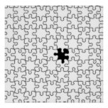 The Missing Puzzle Piece Background Template Posters