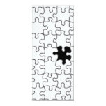 The Missing Puzzle Piece Pattern 4x9.25 Paper Invitation Card