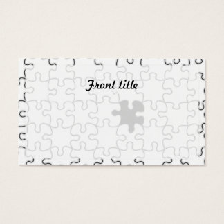 The Missing Puzzle Piece Pattern Business Card