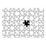 The Missing Puzzle Piece Pattern Large Business Cards (Pack Of 100)