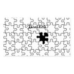The Missing Puzzle Piece Pattern Double-Sided Standard Business Cards (Pack Of 100)