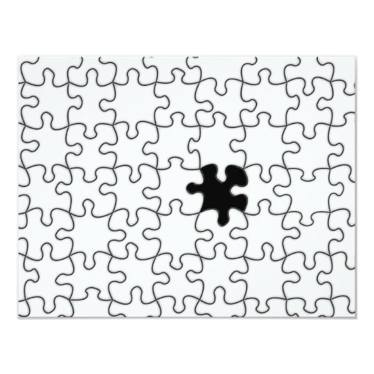 The Missing Puzzle Piece Pattern Card