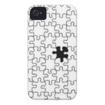 The Missing Puzzle Piece Pattern iPhone 4 Case-Mate Cases