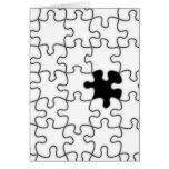 The Missing Puzzle Piece Pattern Greeting Card