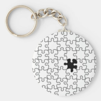 The Missing Puzzle Piece Pattern Keychain