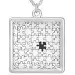 The Missing Puzzle Piece Pattern Necklace