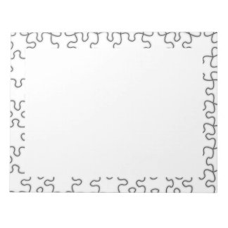 The Missing Puzzle Piece Pattern Notepad
