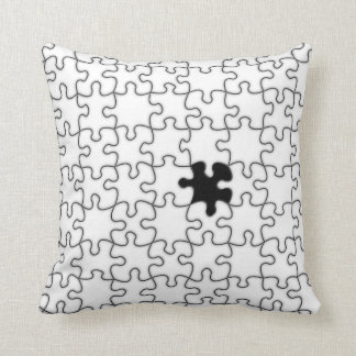 The Missing Puzzle Piece Pattern Throw Pillows