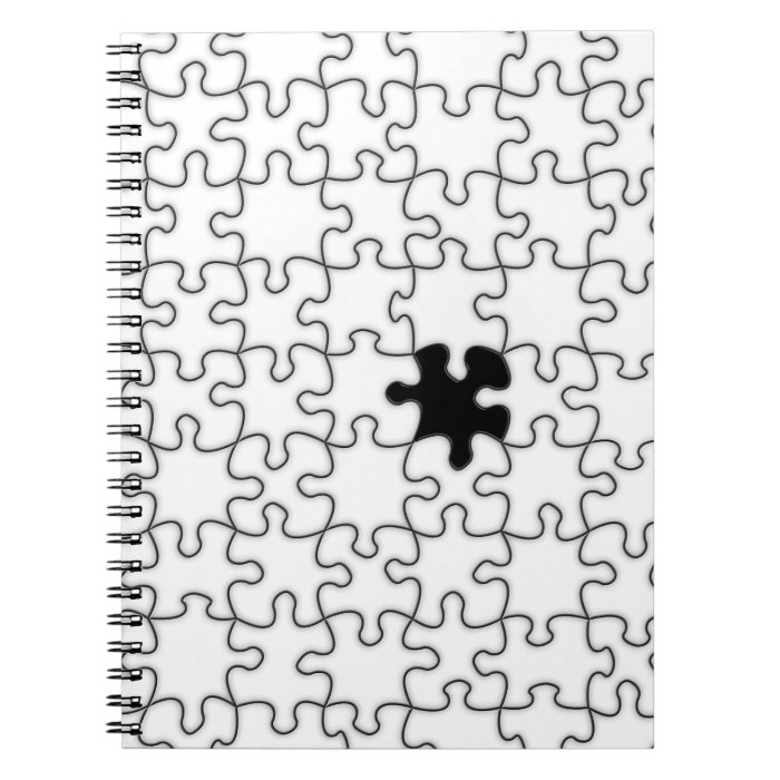 The Missing Puzzle Piece Pattern Spiral Notebook