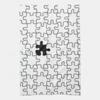 The Missing Puzzle Piece Pattern Towel