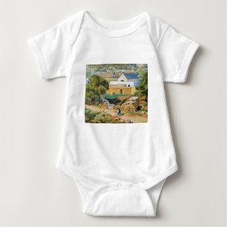 The Mission Church by Kenneth Miller Adams Baby Bodysuit