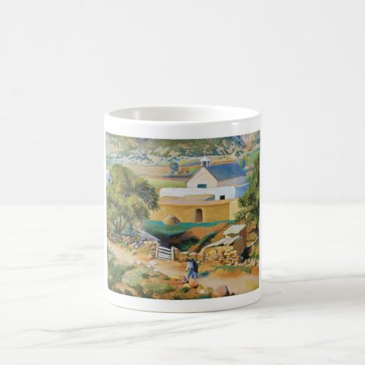 The Mission Church by Kenneth Miller Adams Mugs