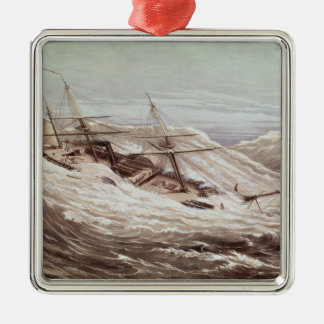 The Mississippi Steam Frigate in a Typhoon Christmas Tree Ornament