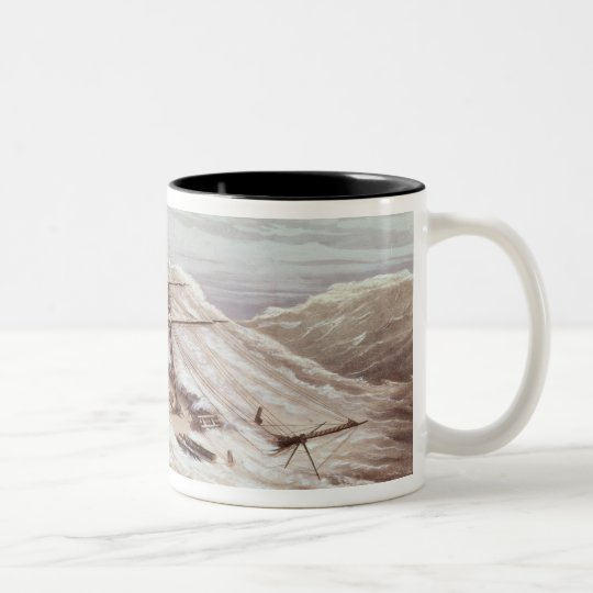 The Mississippi Steam Frigate in a Typhoon Two-Tone Coffee Mug