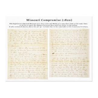 The Missouri Compromise (1820) Canvas Print