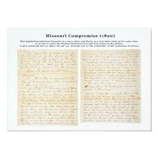 The Missouri Compromise (1820) Card