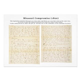 The Missouri Compromise (1820) Custom Announcement