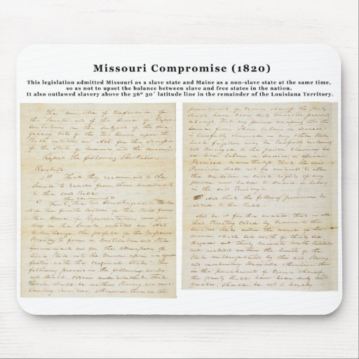 The Missouri Compromise (1820) Mouse Pad