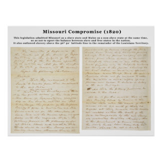 The Missouri Compromise (1820) Poster