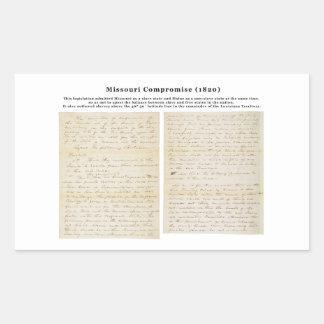 The Missouri Compromise (1820) Rectangular Sticker
