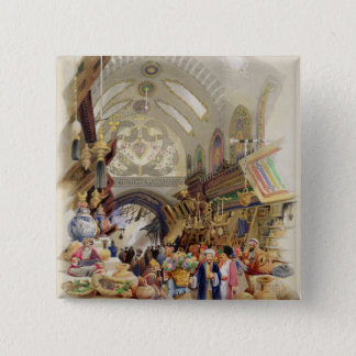 The Missr Tcharsky, or Egyptian Market, in Constan Pinback Button