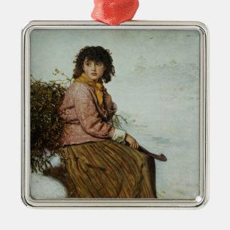 The Mistletoe Gatherer, 1894 Christmas Ornament