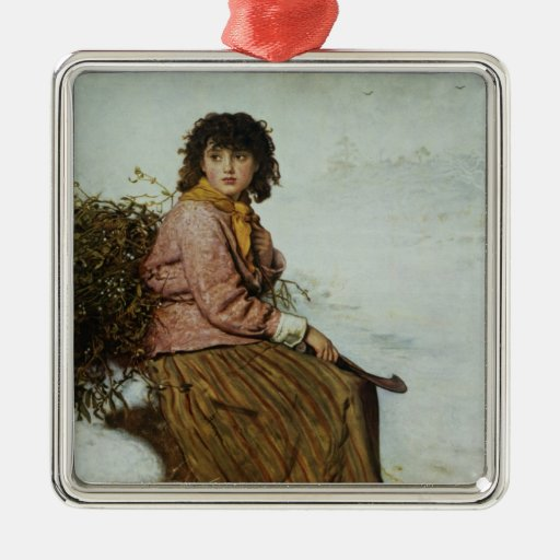 The Mistletoe Gatherer, 1894 Metal Ornament