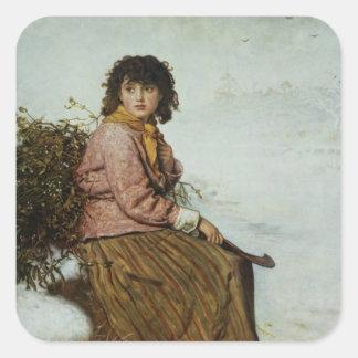 The Mistletoe Gatherer, 1894 Square Sticker