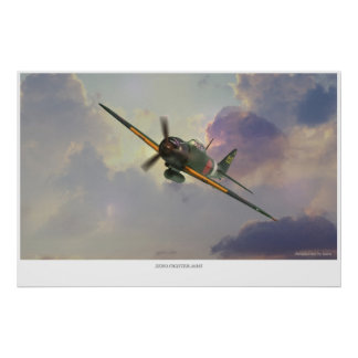 The Mitsubishi A6M Zero Poster