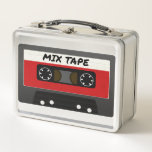 """The Mix Tape Metal Lunch Box<br><div class=""""desc"""">A vintage design. Perfect for anyone who loves old school objects. Mixtape,  cassette tape,  music.</div>"""