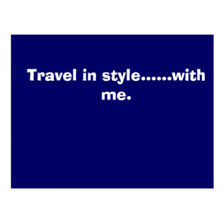The MJJ Company., Travel in style......with me. Postcard