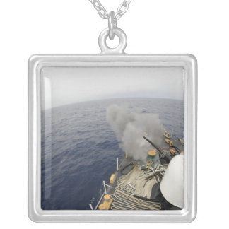 The MK-75 76mm cannon Silver Plated Necklace