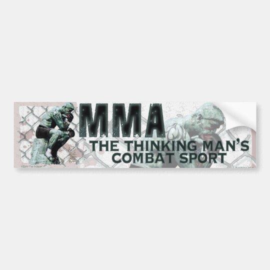 The MMA Thinker Bumper Sticker