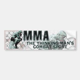 The MMA Thinker Car Bumper Sticker